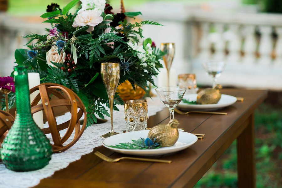 Elegant Navy & Plum Bohemian Wedding Ideas via TheELD.com
