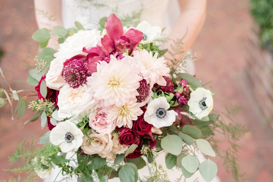 An Classically Elegant Burgundy & Ivory Alabama Wedding via TheELD.com