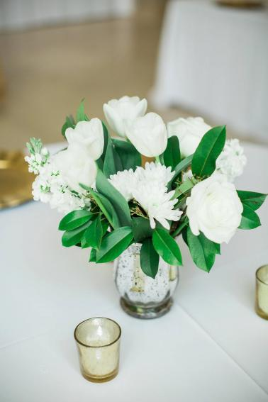 Green & White Modern Garden Dallas Wedding via TheELD.com