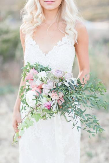 Romantic Blush & Lavender Southern California Wedding Ideas via TheELD.com