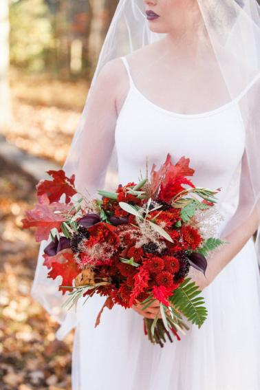Red & Teal Whimsical Fall Wedding Ideas via TheELD.com