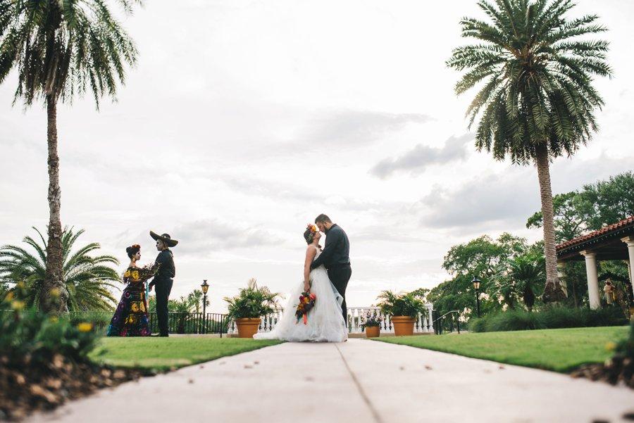 """Colorful Cultural """"Dia de Los Muertos"""" Wedding Ideas via TheELD.com"""
