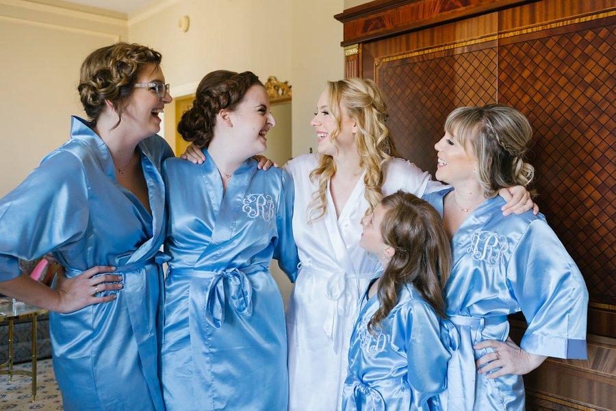 An Industrial Soft Blue & White Los Angeles Wedding via TheELD.com