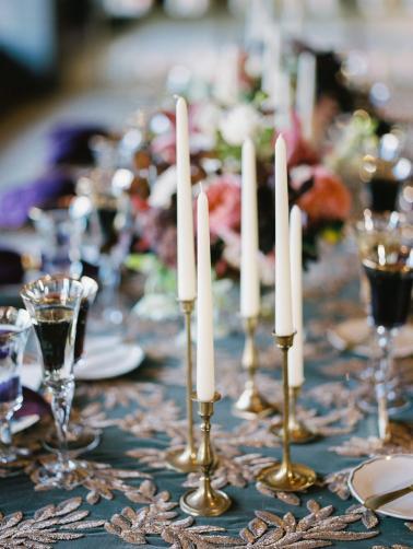 Elegant Emerald & Purple Black Tie Wedding Ideas via TheELD.com