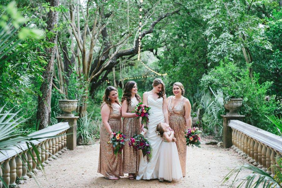 A Pink & Purple Outdoor Texas Garden Wedding via TheELD.com