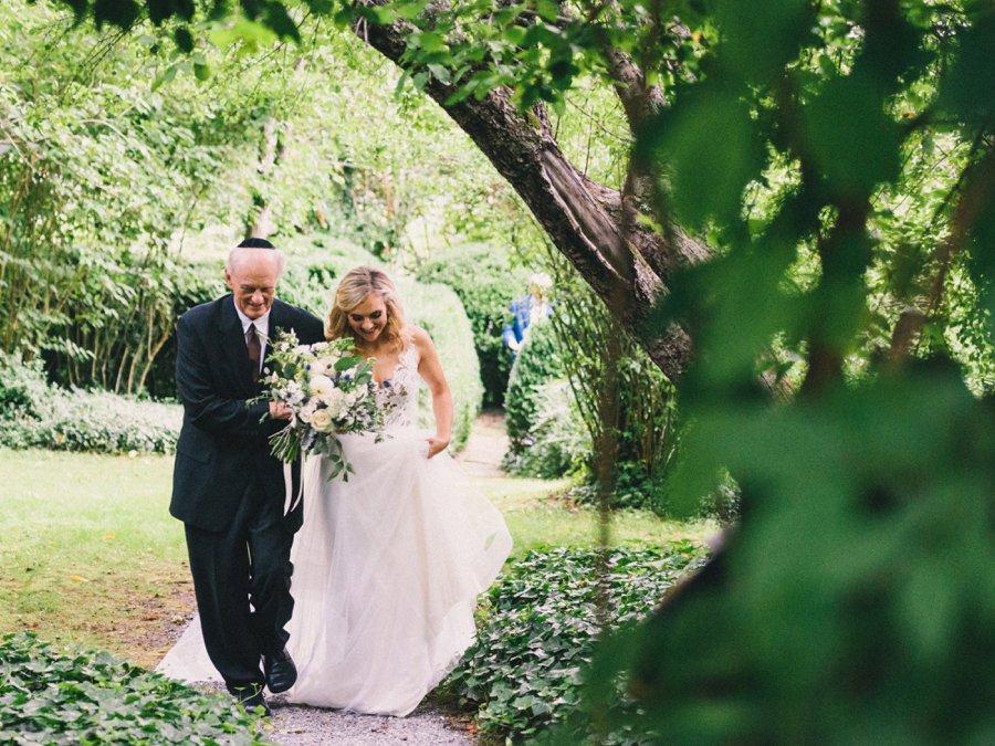 A Romantic Rustic White, Blush, & Blue Asheville Wedding via TheELD.com