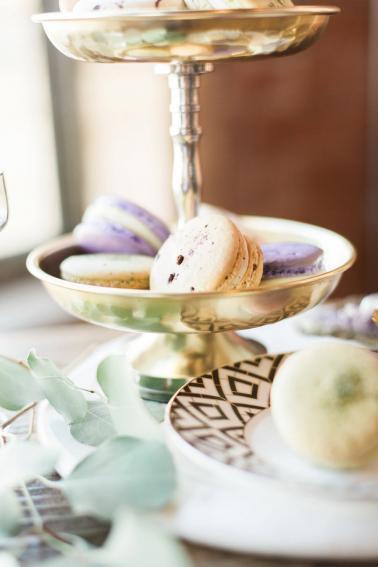 Elegant Amethyst & Marble Industrial Wedding Ideas via TheELD.com