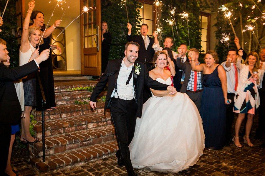An Elegant Green & White Industrial Georgia Wedding via TheELD.com