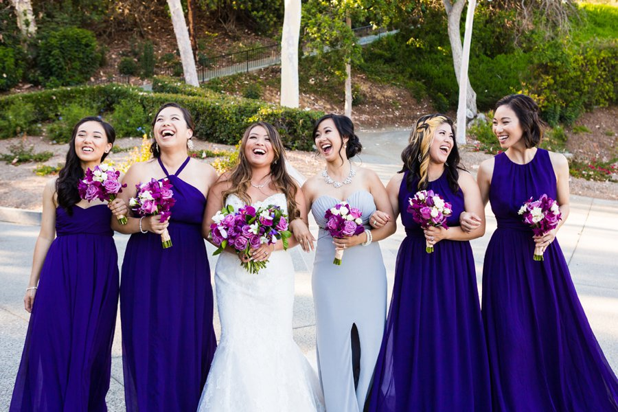 A Modern & Elegant Purple California Wedding via TheELD.com