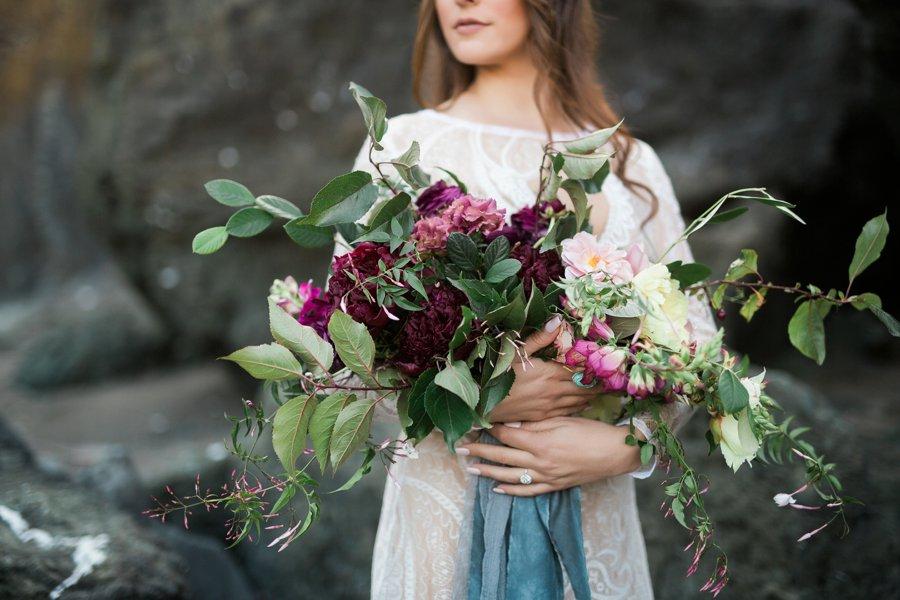 Aqua, Burgundy, & Blush Romantic Coastal Wedding Ideas via TheELD.com