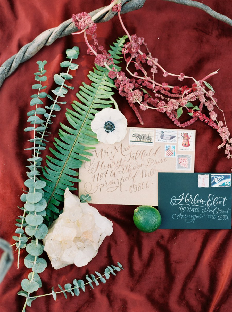 Boho Burgundy Intimate Wedding Ideas via TheELD.com