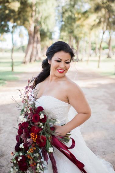 Red & Green Hawaiian Holiday Wedding Ideas via TheELD.com