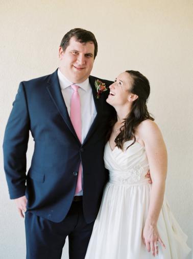 An Elegant Coral & Red Virginia Vineyard Wedding via TheELD.com