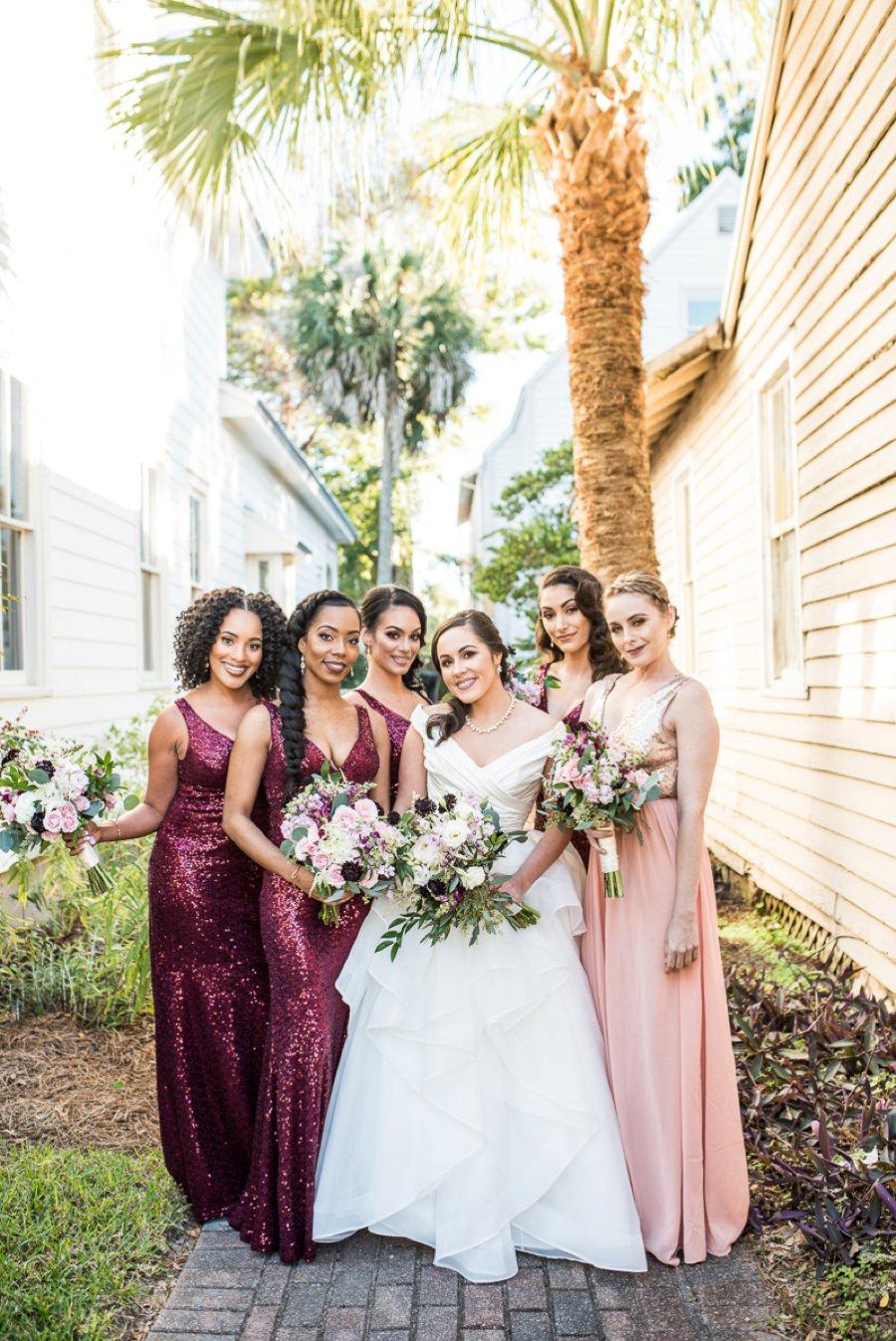 An Elegant Burgundy & Gold Tented Pensacola Wedding Day via TheELD.com