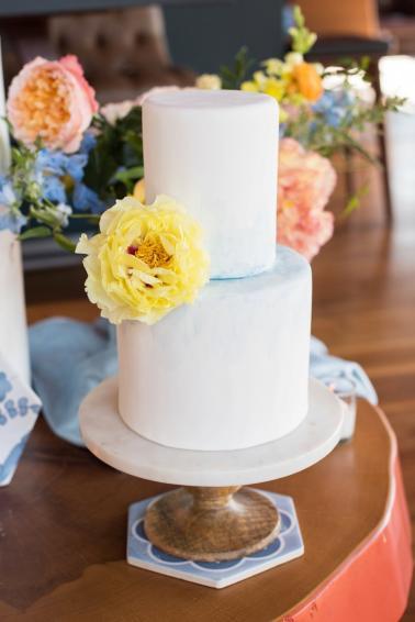 Colorful Blue & Yellow Eclectic North Carolina Wedding Ideas via TheELD.com