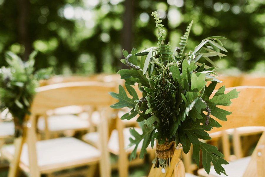An Eco friendly Green & White Organic Ohio Wedding Day via TheELD.com