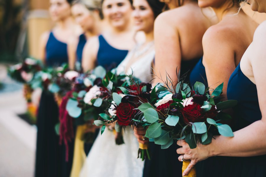An Elegant Burgundy and Navy Fairytale Orlando Wedding Day via TheELD.com