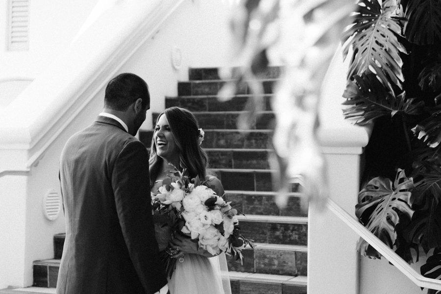 A Classic Green & White Coastal California Wedding Day via TheELD.com