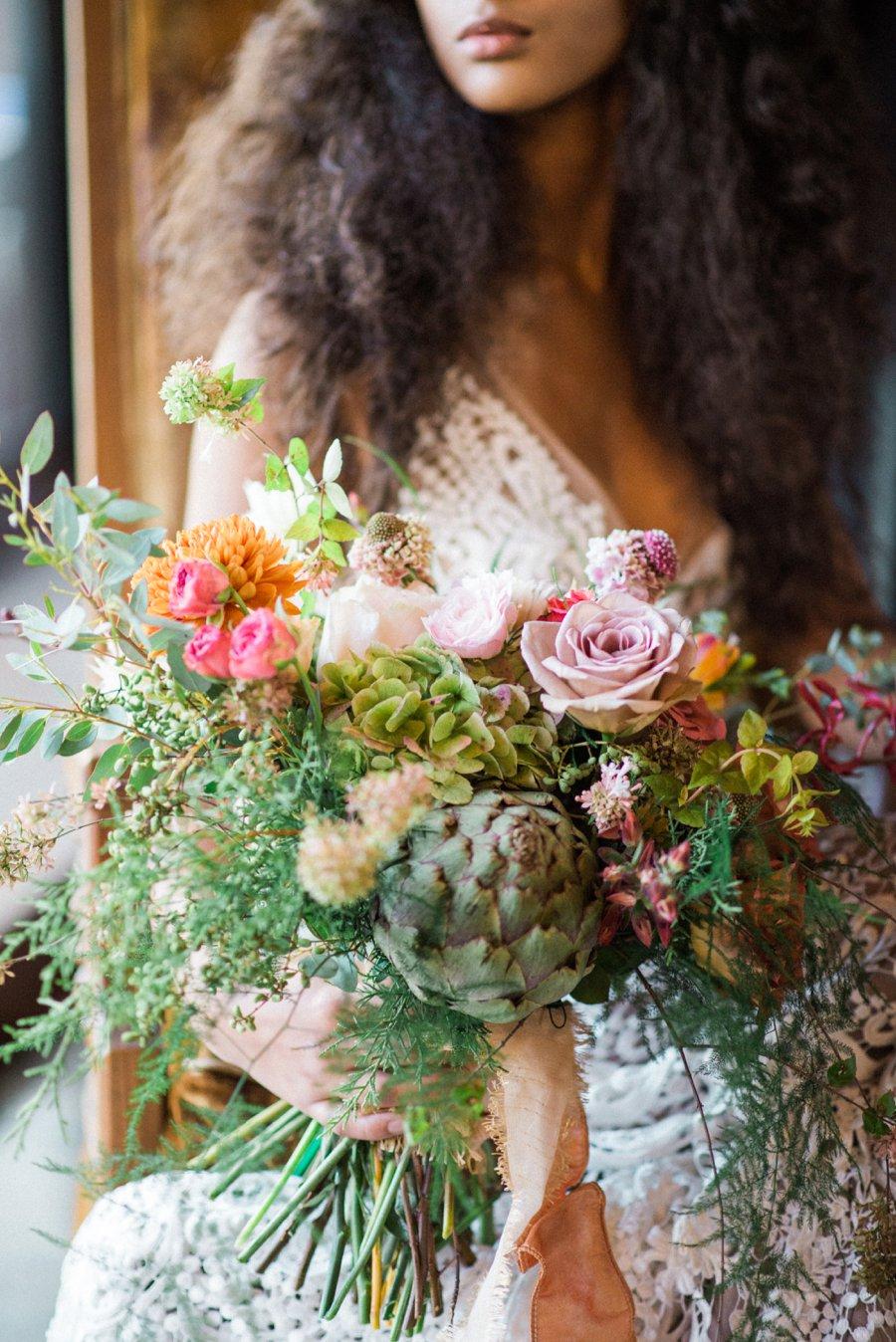 Organic Peach, Purple & Greenery Foodie Wedding Ideas via TheELD.com