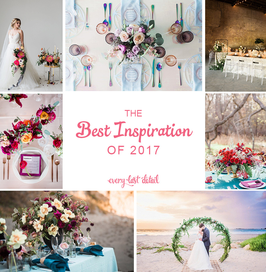 Best Wedding Inspiration of 2017 via TheELD.com