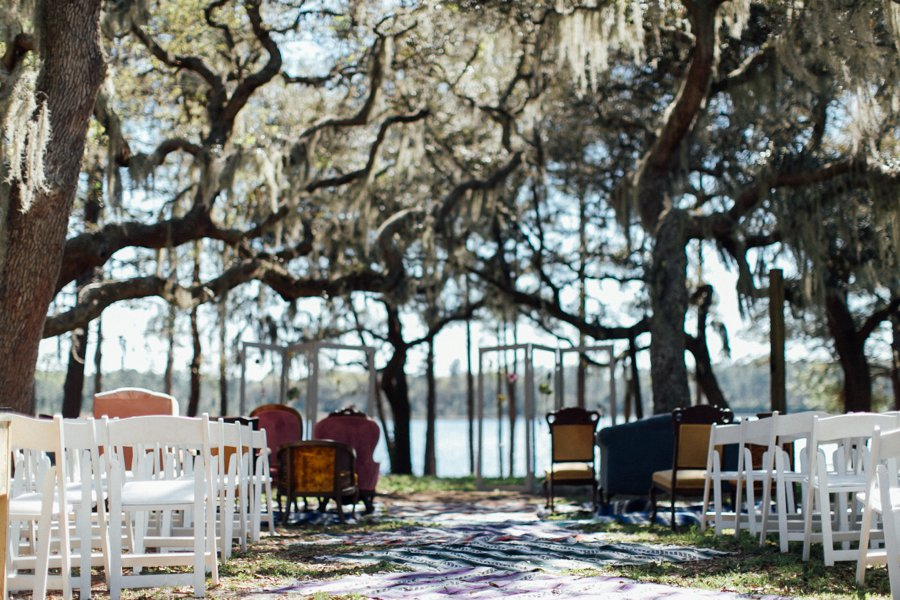 A Colorful & Whimsical Glamping Wedding Weekend via TheELD.com