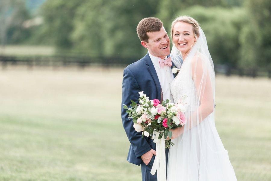A Pink Rustic Romance Virginia Mountain Wedding via TheELD.com