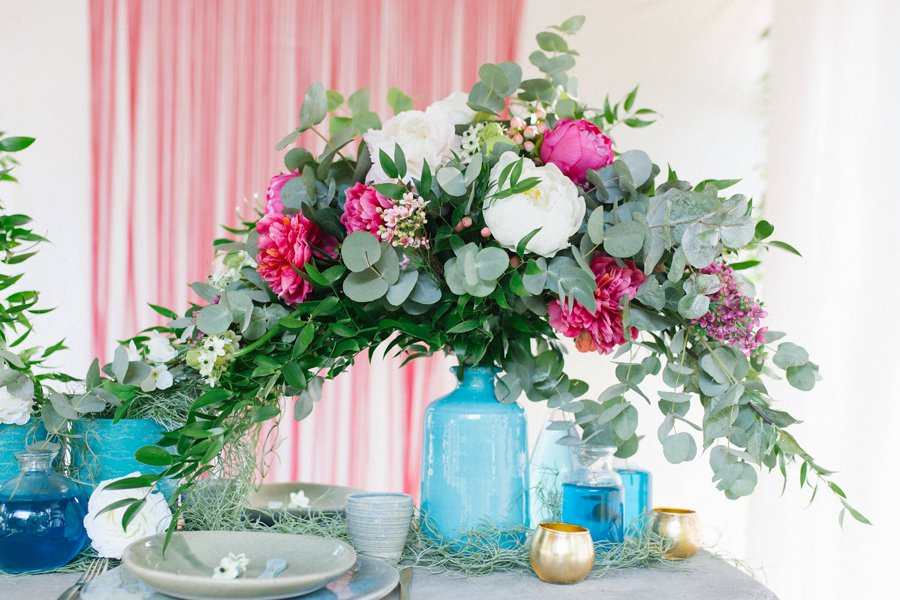 Pink and Blue Bohemian Wedding Inspiration In Italy via TheELD.com