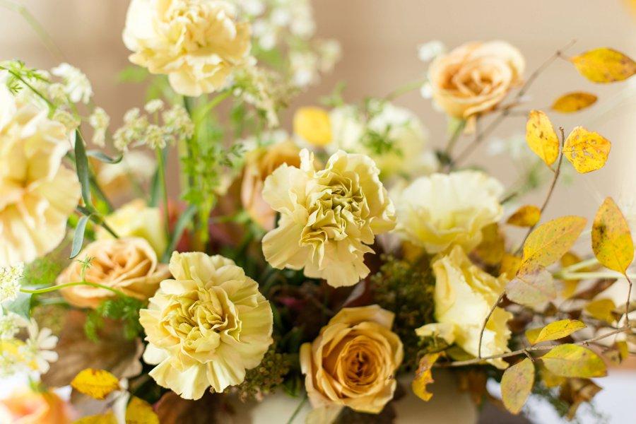 Yellow & Peach Organic Wedding Ideas via TheELD.com