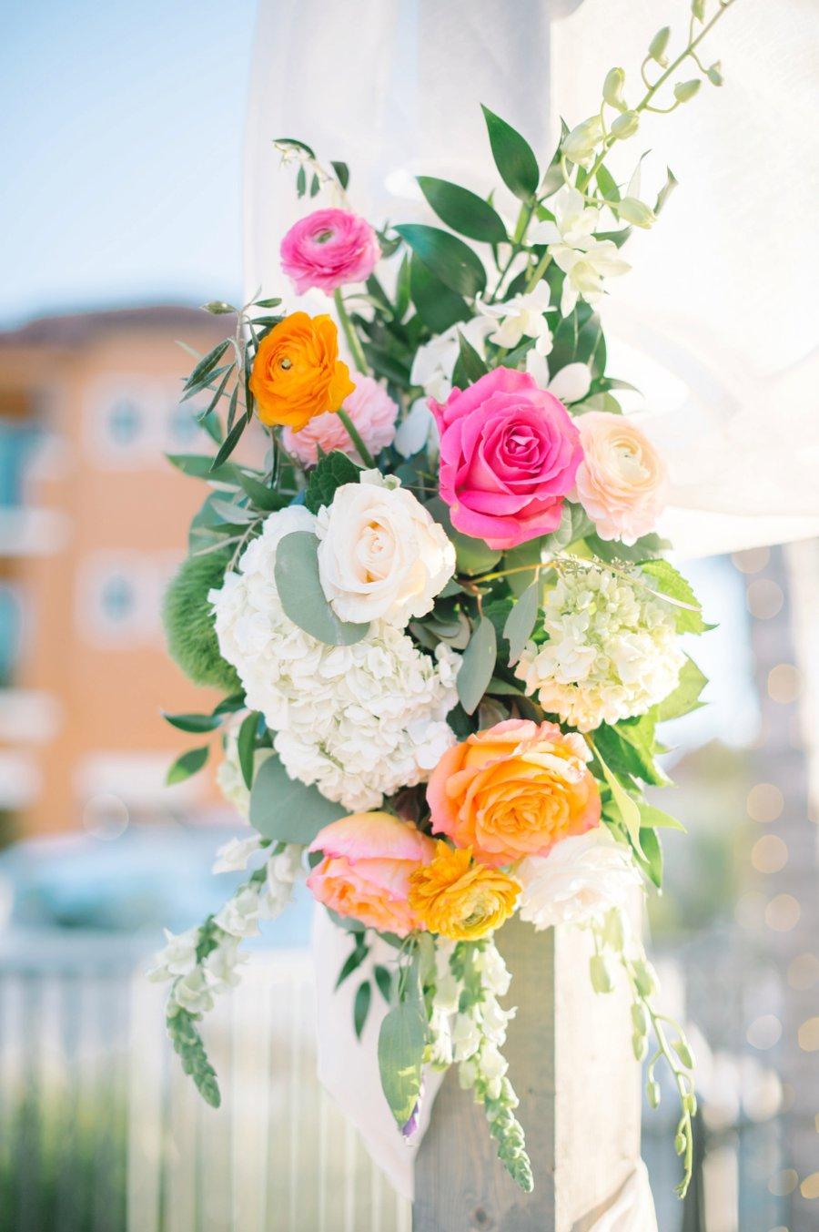 A Colorful Navy, Orange, & Pink Preppy Naples Wedding Day via TheELD.com