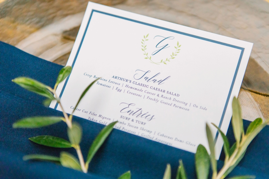 A Navy Garden Inspired Winter Park Wedding via TheELD.com