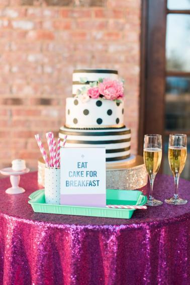 A Tribute: Kate Spade Inspired Wedding Inspiration via TheELD.com