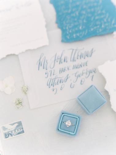 Modern Elegant Blue and Gray Wedding Ideas via TheELD.com