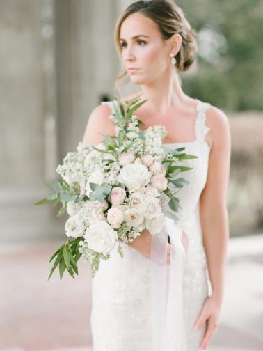 Romantic Blush Spring Inspired Wedding Ideas via TheELD.com
