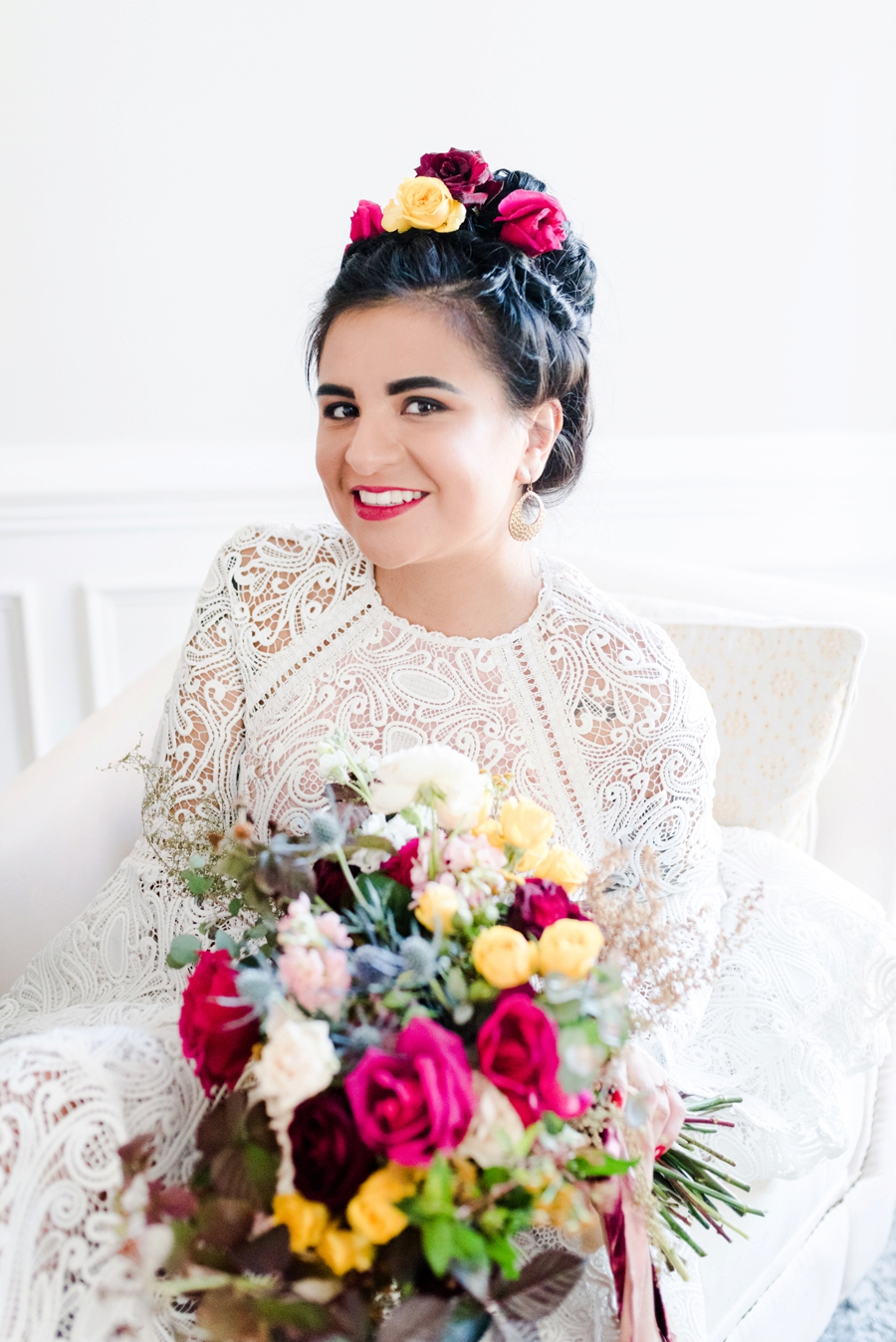 Vibrant, Colorful, and Eclectic Wedding Inspiration via TheELD.com