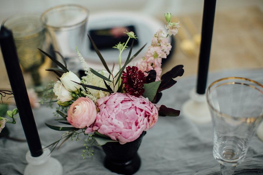 Moody, Romantic Blush & Burgundy Wedding Ideas via TheELD.com
