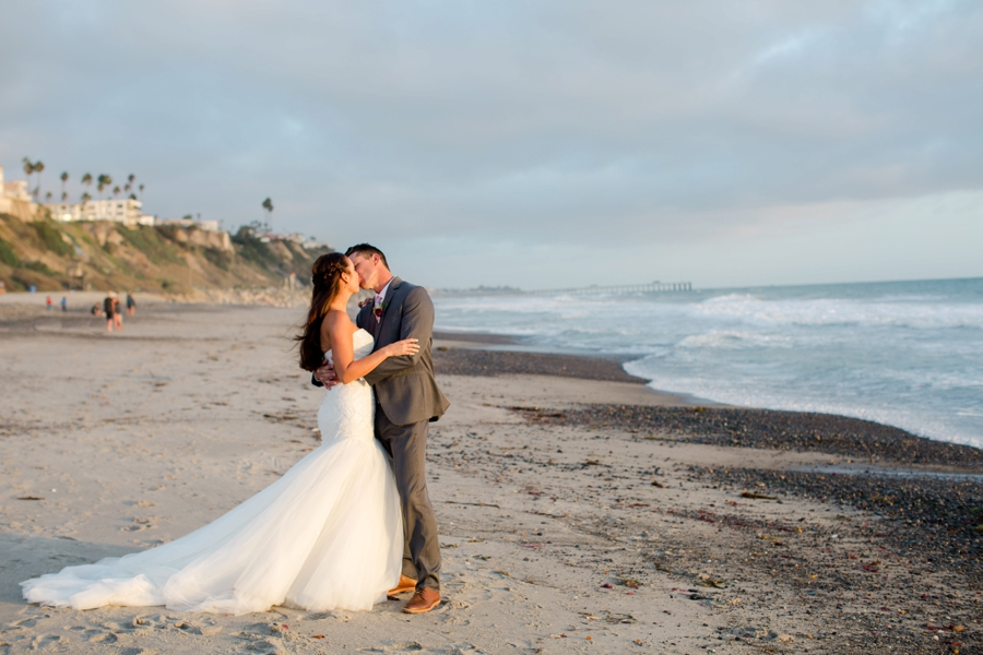 A Blush & Burgundy San Clemente Wedding via TheELD.com