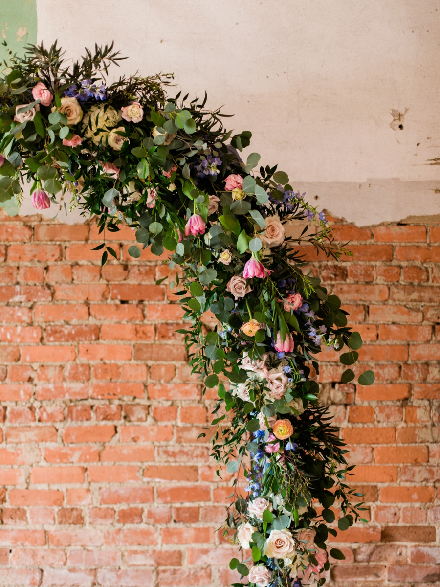 Vibrant & Industrial Wedding Inspiration via TheELD.com