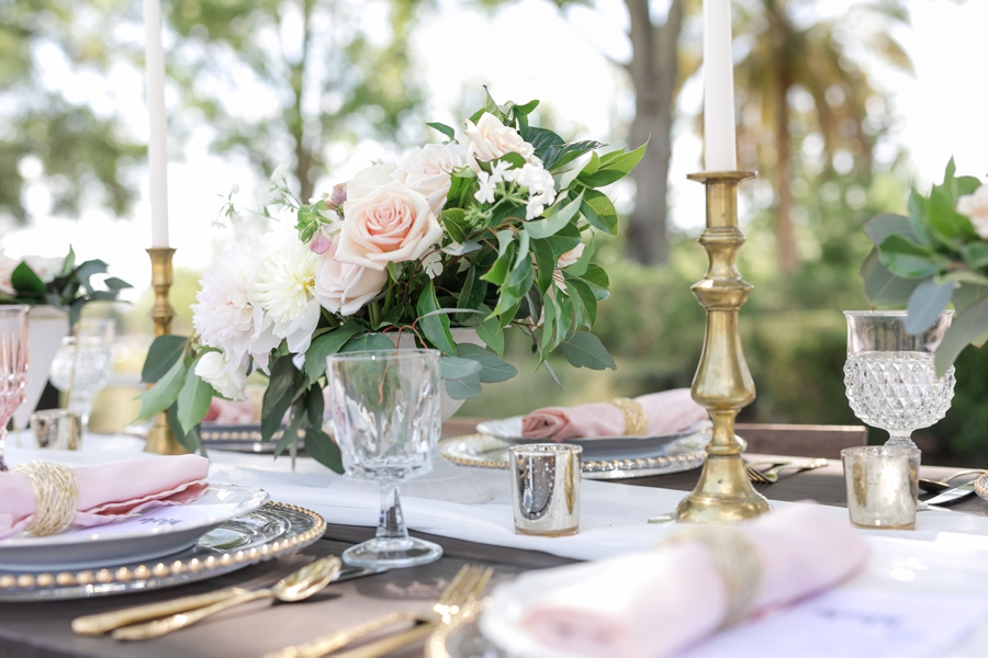 A Modern, Garden Inspired Wedding Design via TheELD.com