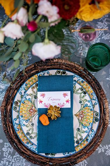 Colorful Frida Kahlo Inspired Wedding Ideas via TheELD.com