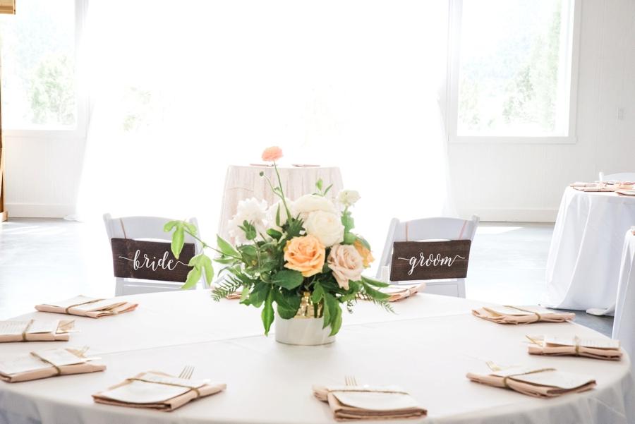 Blush & Peach Colorado Ranch Wedding via TheELD.com