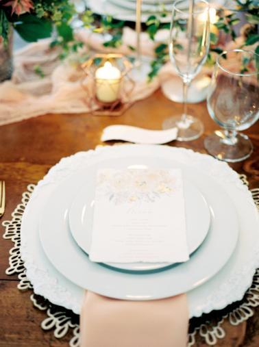 Timeless & Romantic Peach Wedding Ideas via TheELD.com