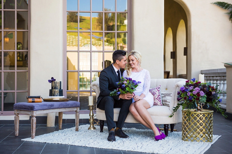 Elegant & Chic Purple Wedding Inspiration via TheELD.com