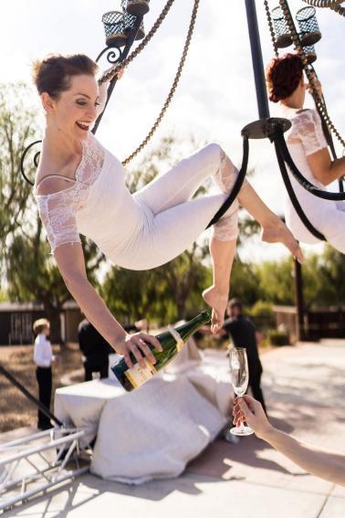 A Glamorous Black Tie California Wedding via TheELD.com