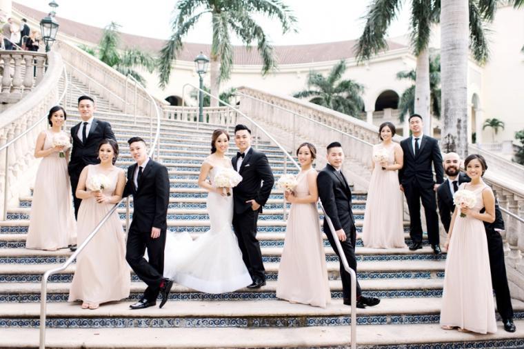 Blush & White Luxe Miami Wedding via TheELD.com