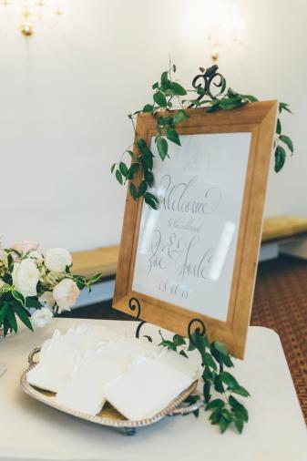 Romantic Blush & White Central Florida Wedding via TheELD.com