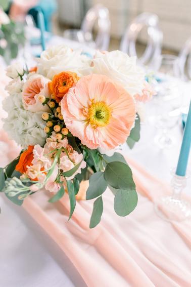 Whimsical Teal and Coral Wedding Ideas via TheELD.com