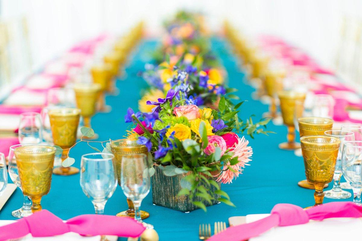 Vibrant Whimsical Wedding Inspiration via TheELD.com