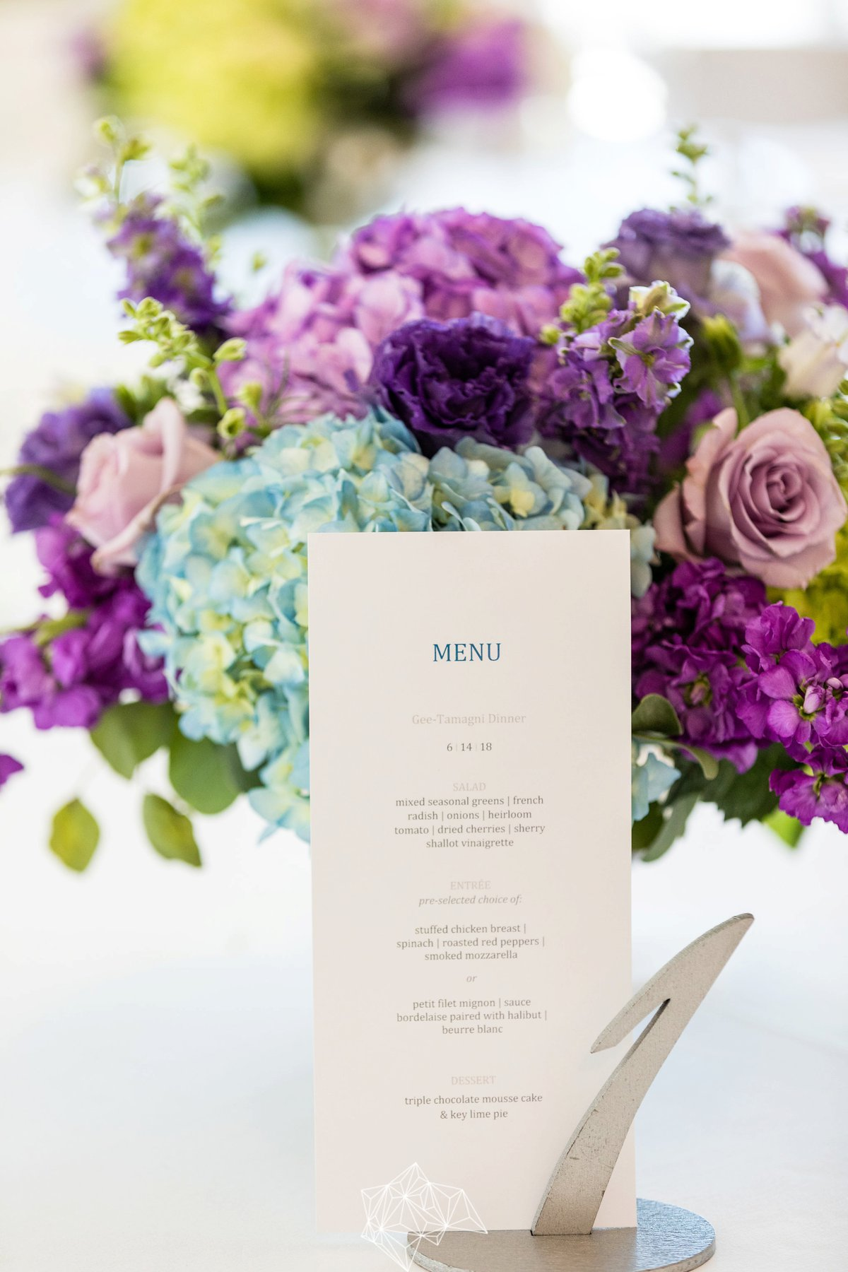 Chic Purple New Jersey Wedding via TheELD.com