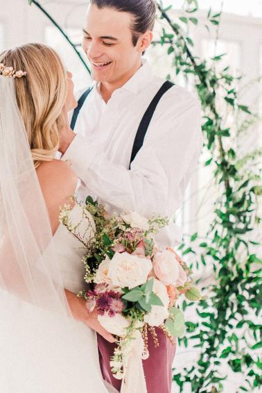 Romantic Dusty Rose Wedding Inspiration via TheELD.com