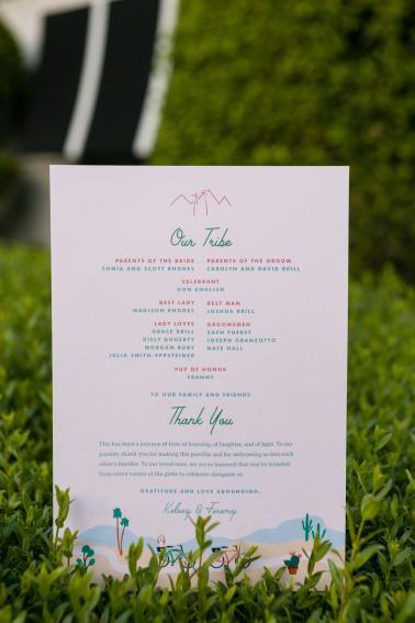 Vibrant Jungle Inspired Palm Springs Wedding via TheELD.com